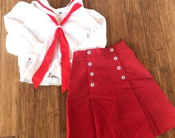 Vintage Sailor Set Vintage Sailor outfit Vintage Sailor Costume size XS/S free shipping & Vintage sailor costume | Etsy