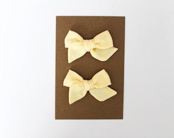 Mini Pinwheel // Lemon Pigtail Set