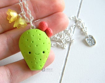 Opuntia, Prickly Pear, Cactus, Succulent plants, Kawaii, Necklace