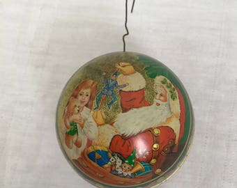 Tin Box Co. Christmas Ornament - 1987