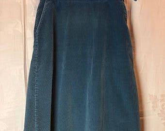 407. SOLD - ORVIS - Corduroy Wrap Skirt