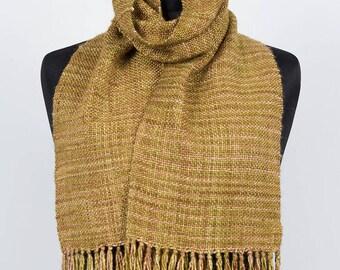 Yellow Hand Woven Merino & Silk Scarf