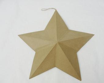 """12"""" Paper mache 3-dimensional star"""