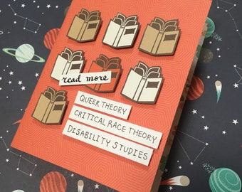 Read More Theory greeting card