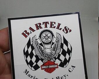 Spring Sale Vintage Bartels Harley Davidson Advertisting decal