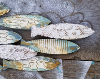 Marvelous Fish Wall Decor/ Coastal Decor/ Metal Fish Decor/ Beach House Wall Art/  Galvanized Metal Wall Art/ Fish Wall Art / Nautical Wall Art