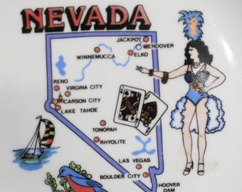 Nevada State Souvenir Plate