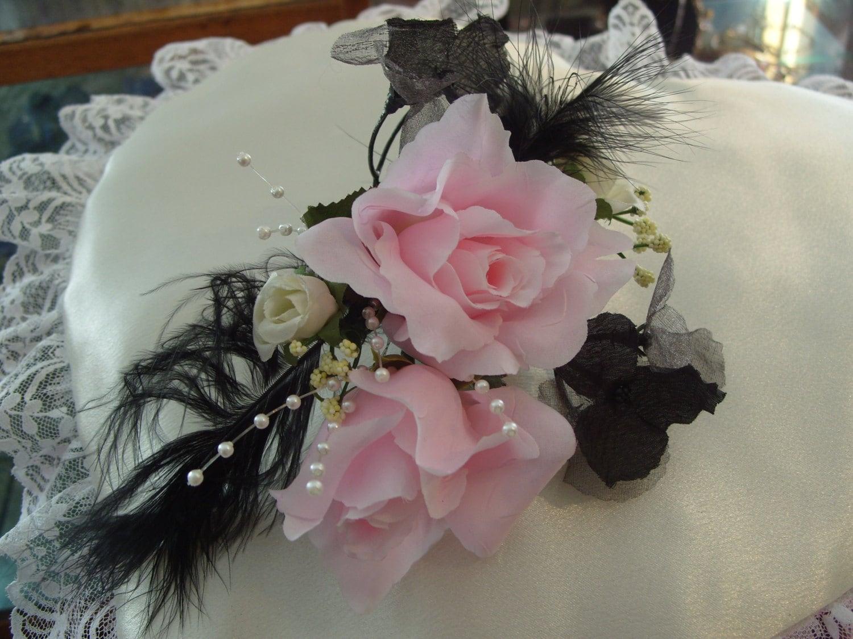 Feather Mist Silk Flower Corsage