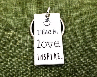 Teach. Love. Inspire. Keychain - Teacher Gift