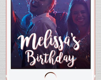 Birthday Party Snapchat Geofilter, Neon Geofilter, On Demand Geofilter, Neon Personalized Geofilter for BirthdayParty