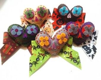 """Happy Halloween"" hair hairpins-hairstyle-crazy hair-colorful hair-hair ornaments"