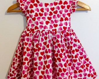 Valentine dress, girls valentine dress, baby valentine dress, valentine baby dress, girls dress, Valentines dress, sweetheart girl dress,
