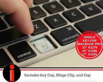 "Genuine Apple MacBook Pro UniBody 13""/ 15"" / 17"" SINGLE Replacement Key w/Hinge"