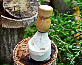 Kit Afeitado - Jabón Natural + Brocha de pelo delicado envueltos esponja vegetal exfoliante, regalo ideal para hombres, regalo para papás.