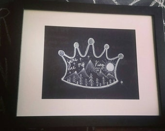 Psalm 4:44 Crown Illustration, original and hand drawn