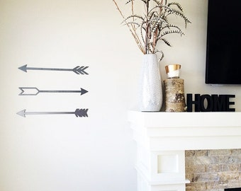 Set of 3! Rustic Metal Arrow Home Decor - Collage Art - Trendy Home Decor – Rustic Arrow Nursery Art - Rustic Wedding Decor