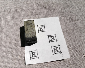 Antique Rubber Stamp Japanese characters