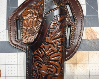 Hand made Carved .45 Auto Holster