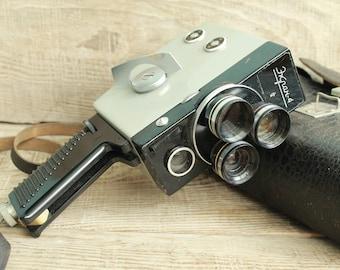 Genuine Camera - Old Vintage Soviet  Movie Ekran 4 -  8mm - Vintage Soviet Film Camera - Cine Camera - Collectible Camera - Working Camera