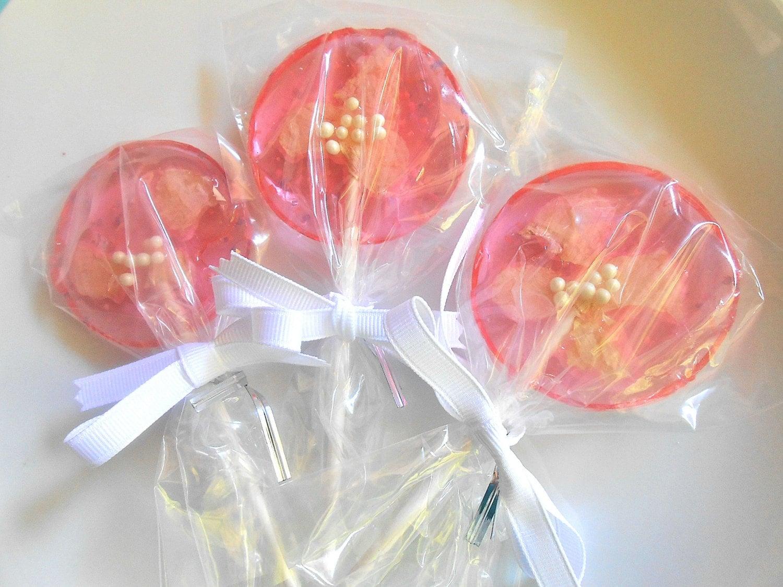 Flower Lollipops. Fruit Shape Handmade Candycandy Flower Lollipops ...