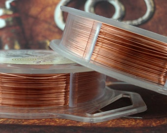 Bare Copper Artistic Wire - Solid Metal - You Pick Gauge 10, 12, 14, 16, 18, 20, 22, 24, 26, 28, 30, 32, 34 – 100% Guarantee