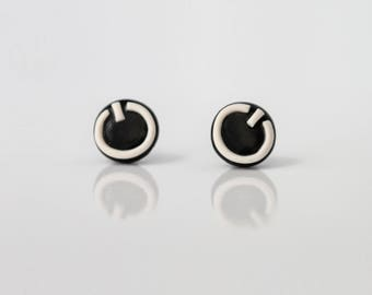 "The button ""on"" - designer lightweight earrings"