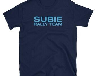 Subie Rally Team Shirt - Subaru Wrx Shirt Sti Shirt Flat 4 Boxer Turbo AWD Wrc World Rally Championship
