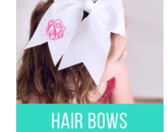 Monogram Hair Bow/ Monogram Cheer Bow/ Personalized Bow