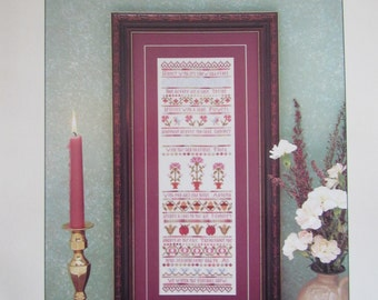 Seasons Sampler/Counted Cross Stitch Sampler Pattern by Willow Ridge/Needlecraft/Embroidery/Home Decor/Sewing/1995