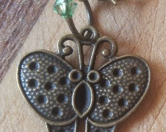 Stitch Marker Set Bronze Butterfly