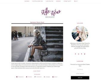 Responsive WordPress Theme | Style Stereo Feminine Blog Design | WordPress Template | Genesis Child Theme