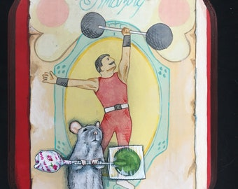 The Strongman Mouse - Medium Painting
