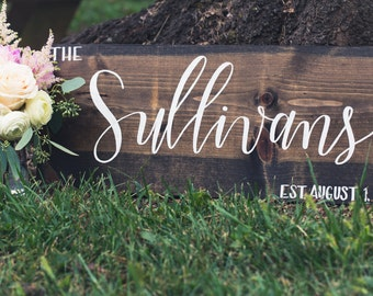 Family Name Sign - Medium; Rustic Wooden Sign