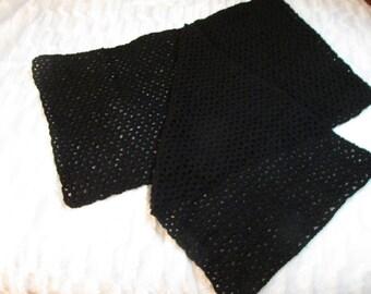Black Lacy Shawl