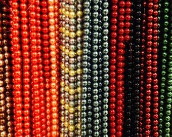 12mm Glass pearls, round, 35 beads