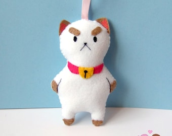 Puppycat plushie from Bee and puppycat. puppy cat plush ornament