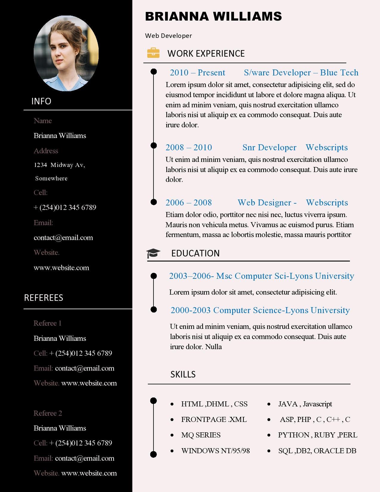 Berühmt Besten Lebenslauf Website Design Ideen - Beispiel ...