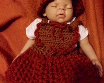 Puffs and Ruffles Hat and Skirt Pattern-- Newborn