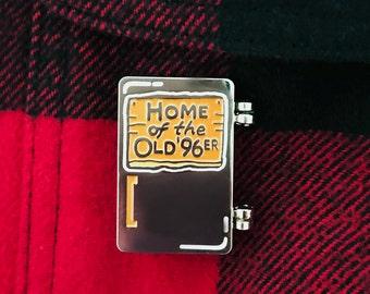 The Old 96er Steak Fridge Enamel Pin - from The Great Outdoors