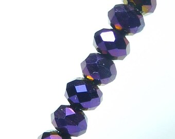 25 beads 4mm Crystal faceted black iridescent oil