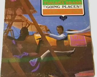 Vintage Herb Alpert and the Tijuana Brass Record, Going Places, Aiplane Cover Art Picture, 1960's Vinyl Record, Jazz Record, Album Cover