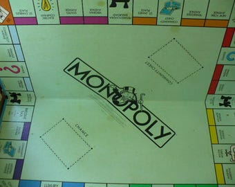 Vintage Monopoly Game Board Replacement Parts, 1970's Monopoly Game Board Piece, Family Game Night, PioneerFundraiser