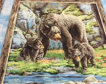 Bear Meadow Panel from Wilmington Prints by the panel