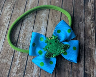 Dragon headband-newborn photography - hair clip - headband - hair bow - infant