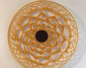 Sunflower Crochet Dreamcatcher