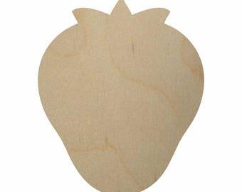 Wooden Strawberry Cutout Shape