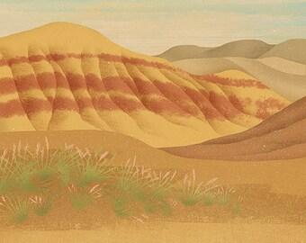 Painted Hills Oregon Print