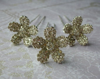 Delphine Diamante Hair Pins - Set of 3