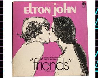 Elton John - Friends LP Record, 1971 Vintage Vinyl Record Album, pop rock