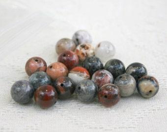 Jasper beads set of 20